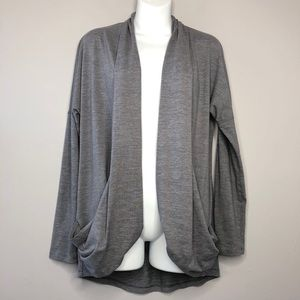 LUCY Grey Open Cardigan